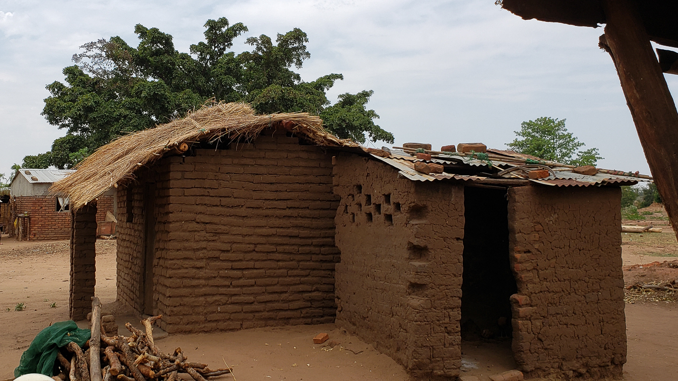 Common mud brick home. It does dissolve every time it rains.