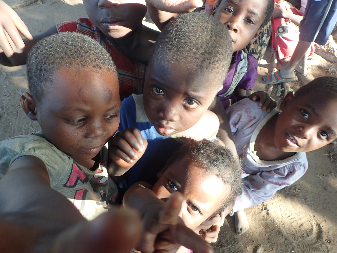 Children from the Chonde village in Malawi